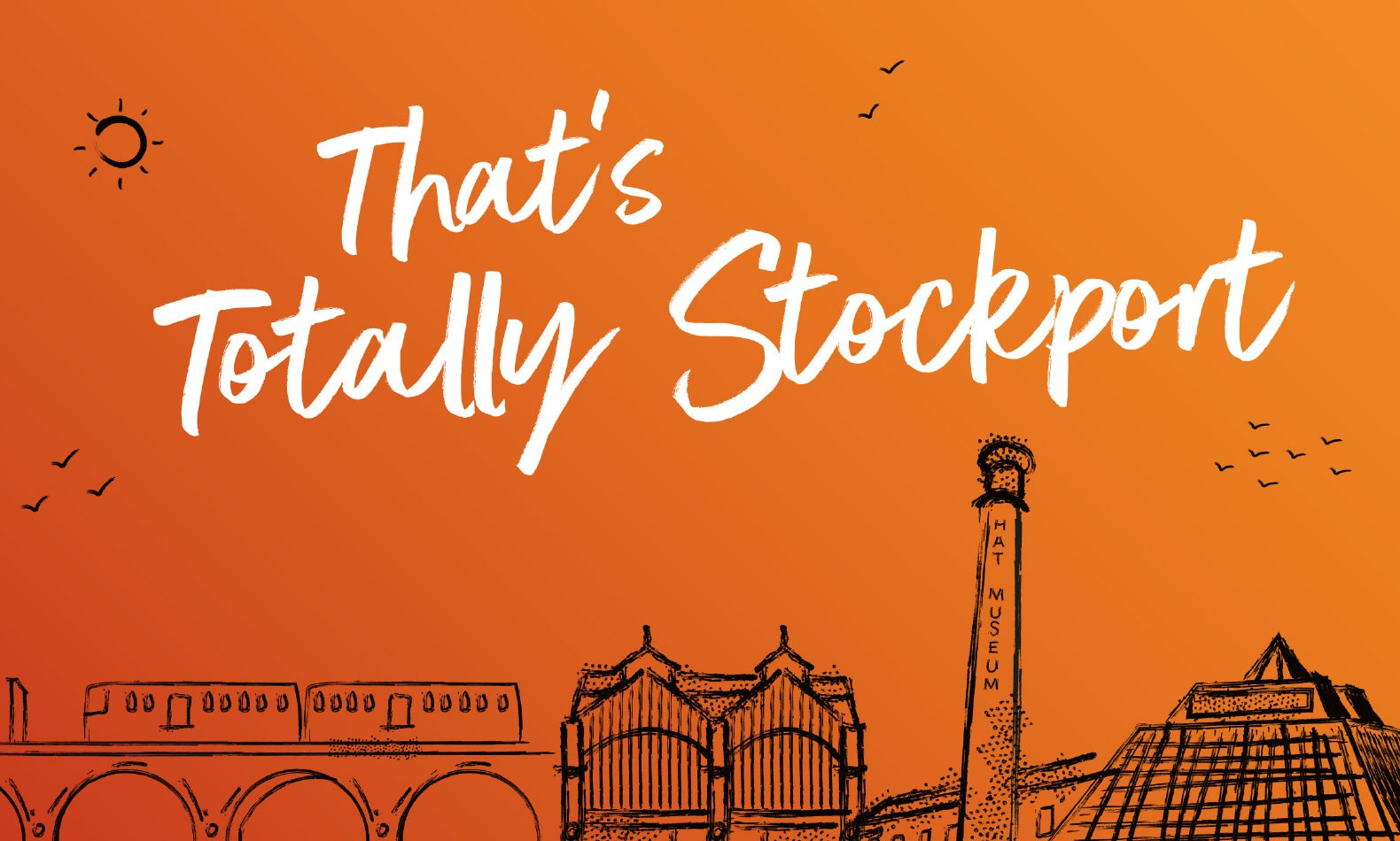 stockport town centre illustration