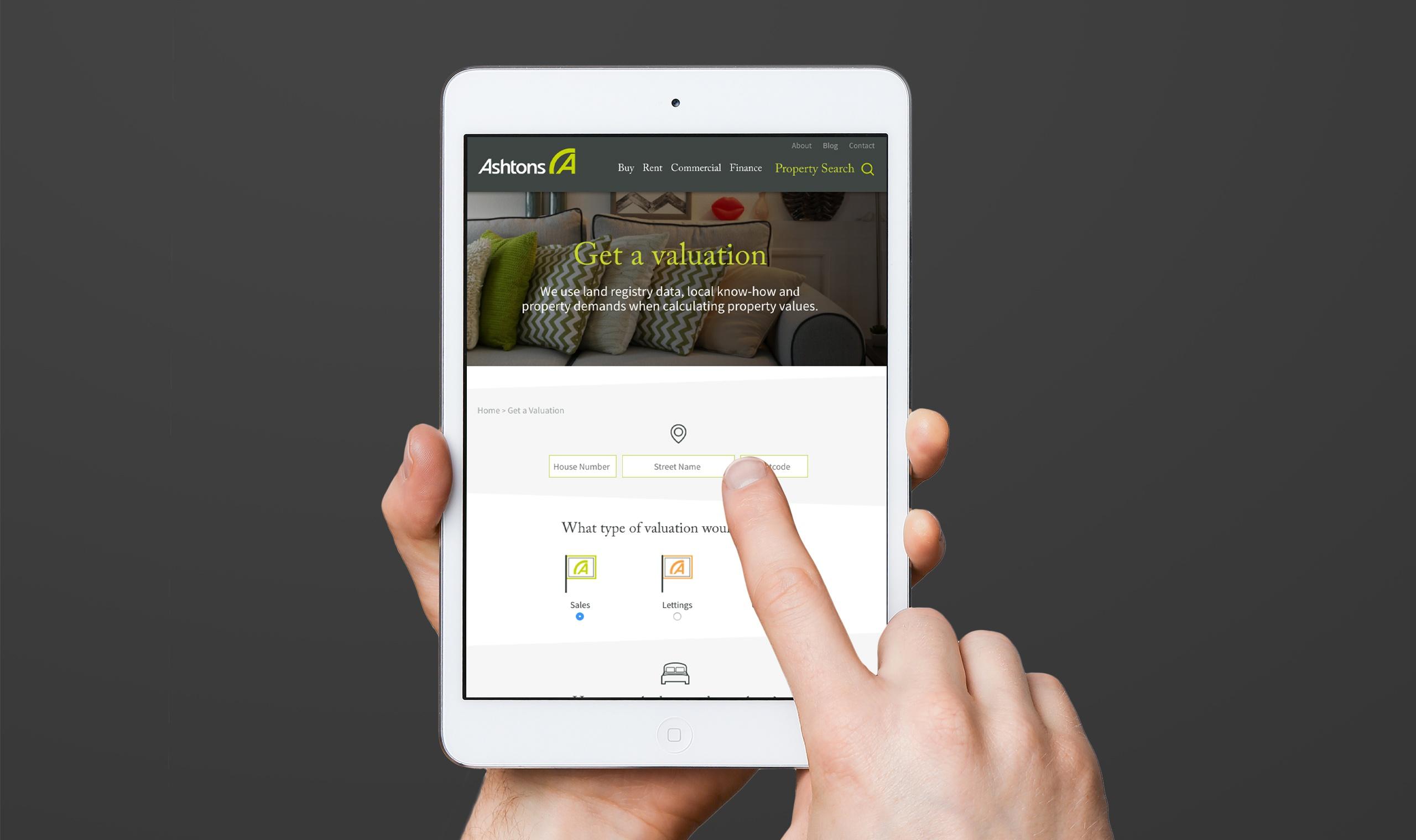 tablet website design development