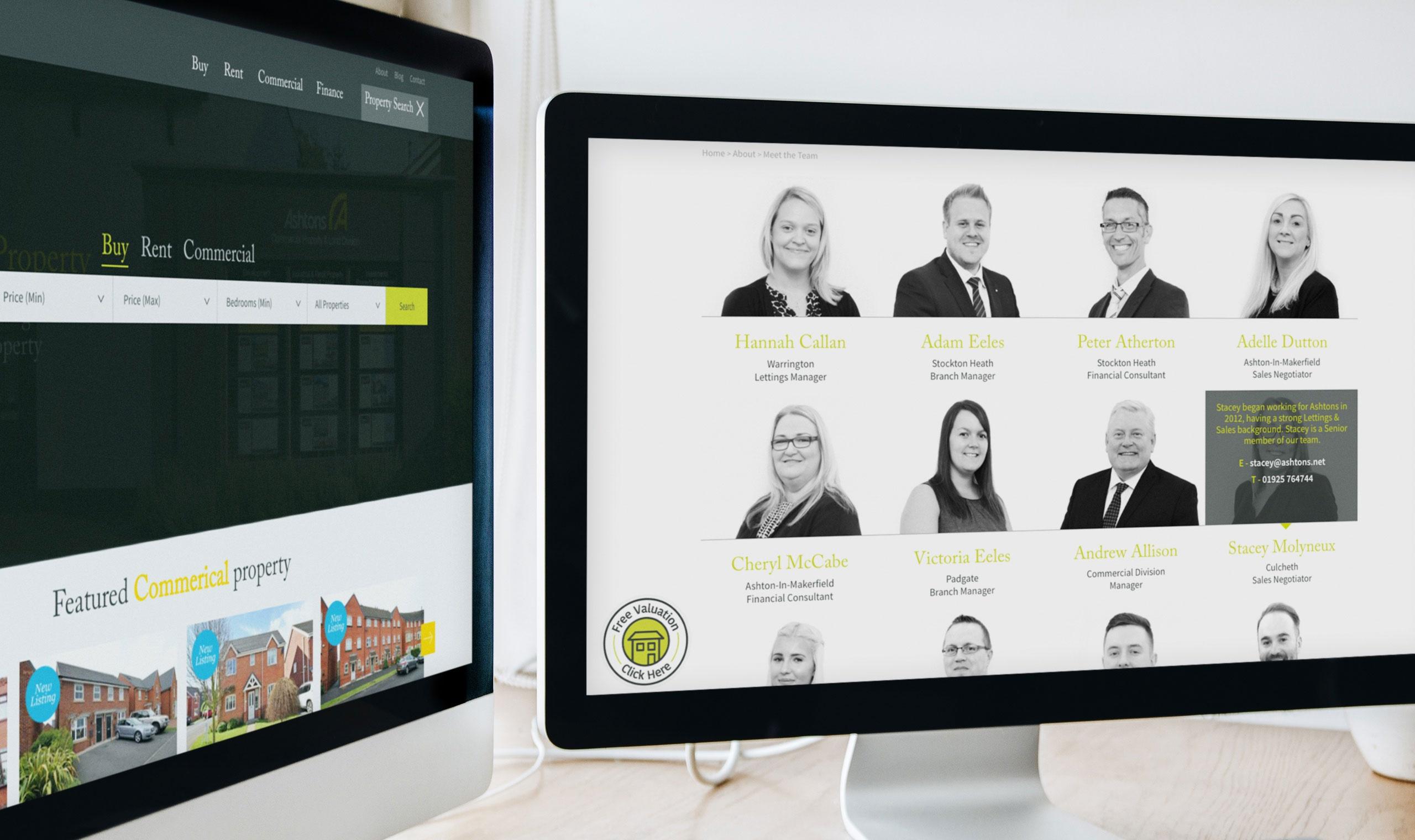 team photography website design