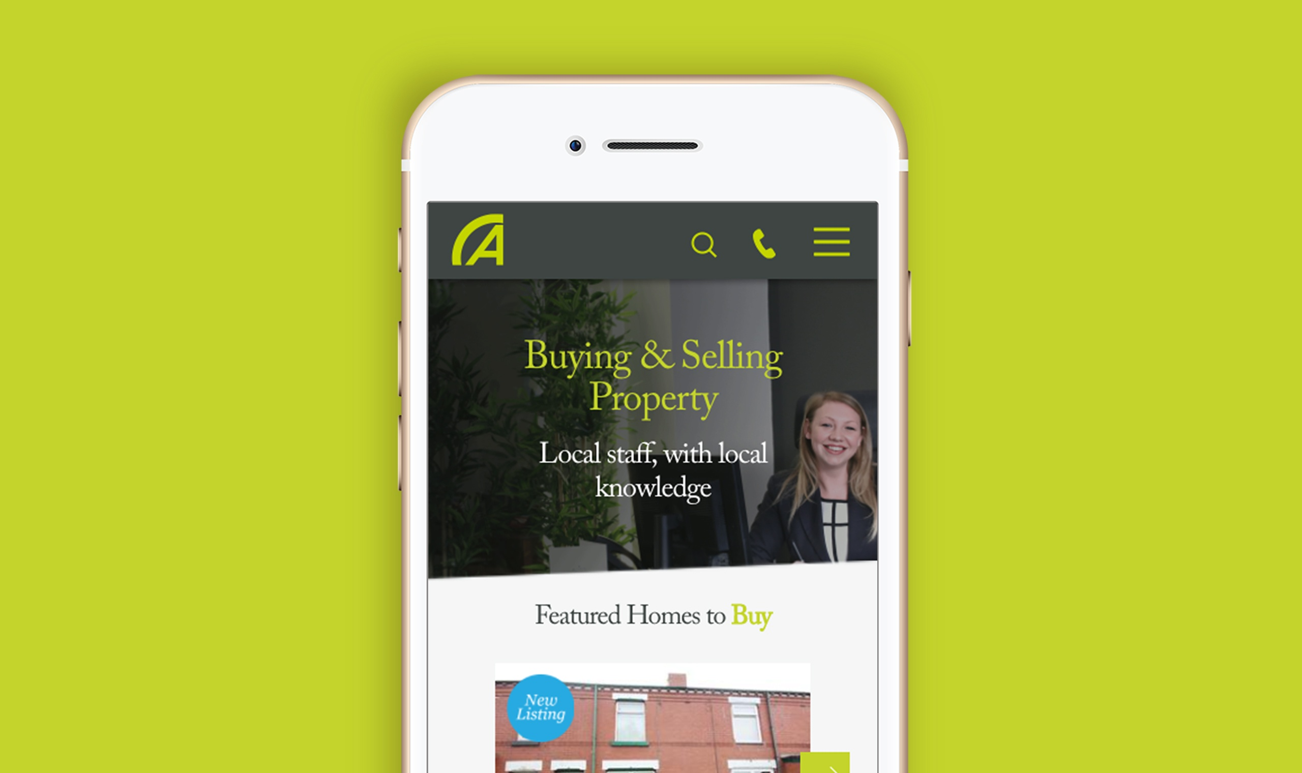 Mobile responsive estate agency website