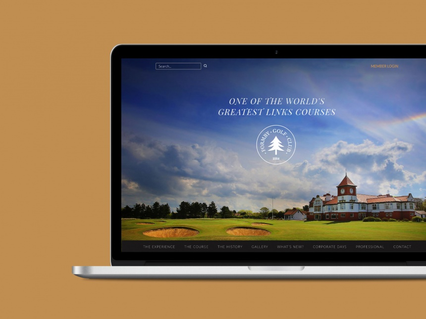 Formby Golf Club website design and development