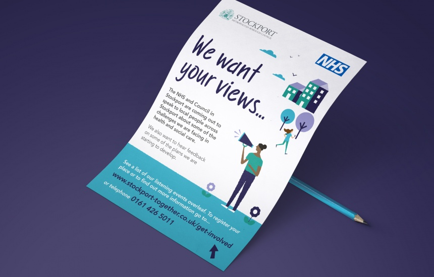 NHS poster illustration design