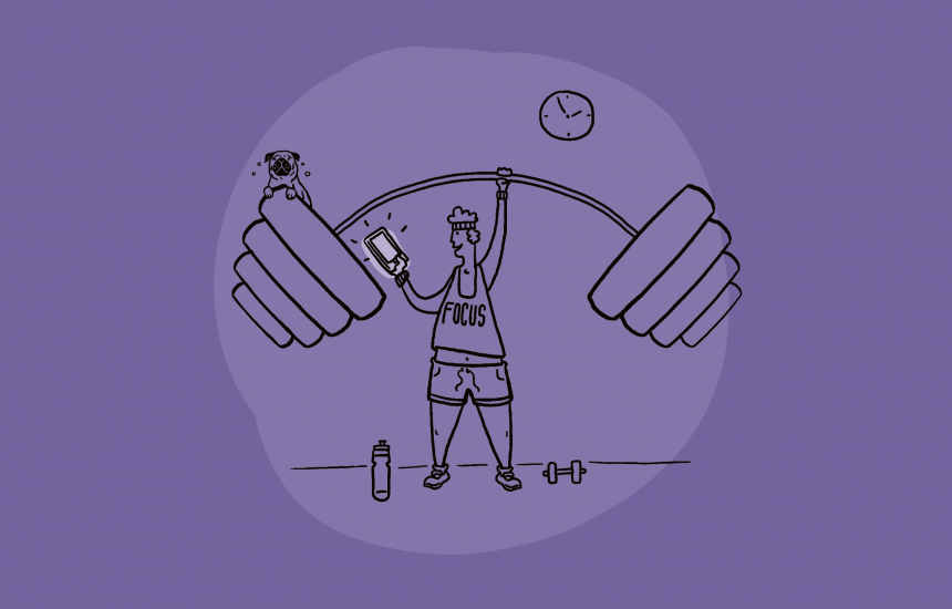 Weightlifting illustration