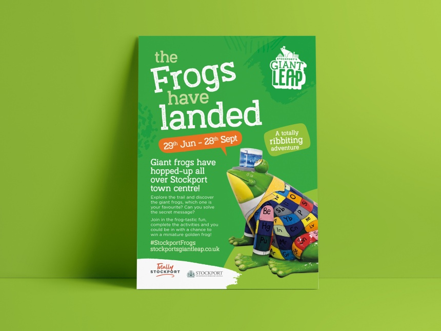Stockport Frogs – Giant Leap Art Trail